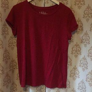 Ann Taylor Loft vintage soft red T-shirt size L